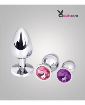 Seamless stainless steel anal plug  out of the back court masturbation plug