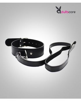 Collar With Leash PU Leather Fetish Slave bondage