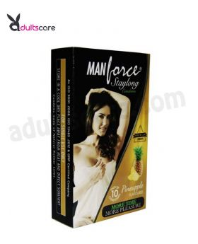 Manforce Pineapple Flavour Condoms 10 Pcs (Set of 4)