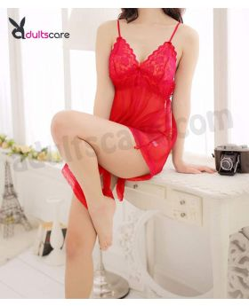 Big Bow Flyaway Chemise & G-String Set