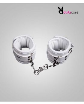 WHITE HANDCUFFS WOMEN BONDAGE