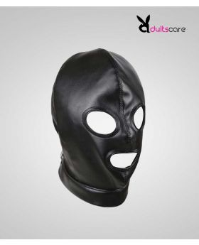 Sex Fetish Slave Hood Leather Mask.