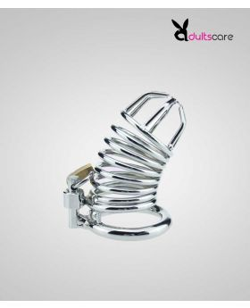 HOLLOW DESIGN METAL MALE CHASTITY DEVICE COCK CAGE