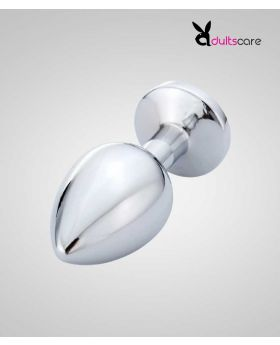 Large stainless metal butt plug