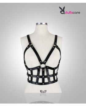 PU leather harness Bondage corset for women