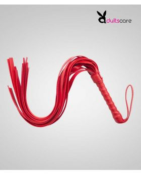 Red Faux leather whip with tassels for couples