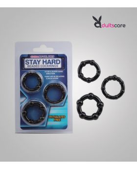 Hard Beaded Delay Ejaculation Cock Ring