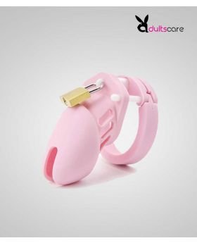 Pink Chastity Locked Cage Sex Toy for Men