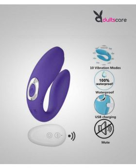 Wireless U Shape Vibrator Toys for Couples USB Rechargeable G Spot Clitoris Sex Toy for Woman