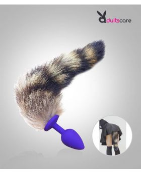 Soft Silicone Anal Plug Fox Tail