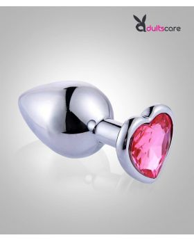 Heart Stainless Steel Crystal Anal Plug