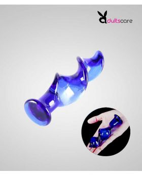 Glass Screw anal dildo butt plug